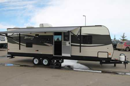 modern trailer w large slide / free delivery banff or canmore